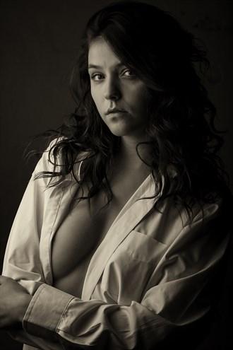 Dawn, white shirt Artistic Nude Photo by Photographer CJ Photo