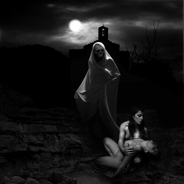Death and the young maiden Chiaroscuro Photo by Artist jean jacques andre