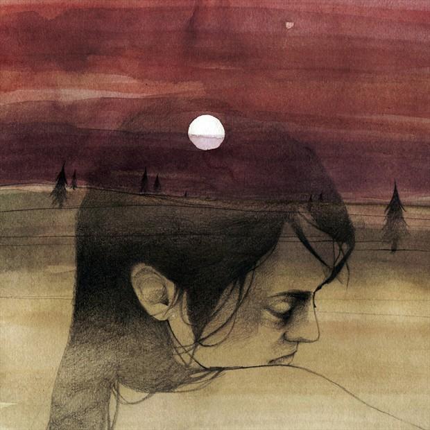 December Expressive Portrait Artwork by Artist Elia Fern%C3%A1ndez