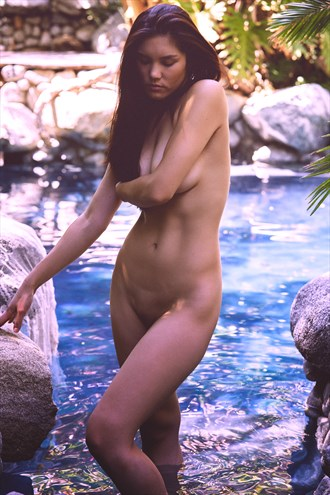Deep thoughts in the Blue Lagoon Artistic Nude Photo by Model ccarrieart
