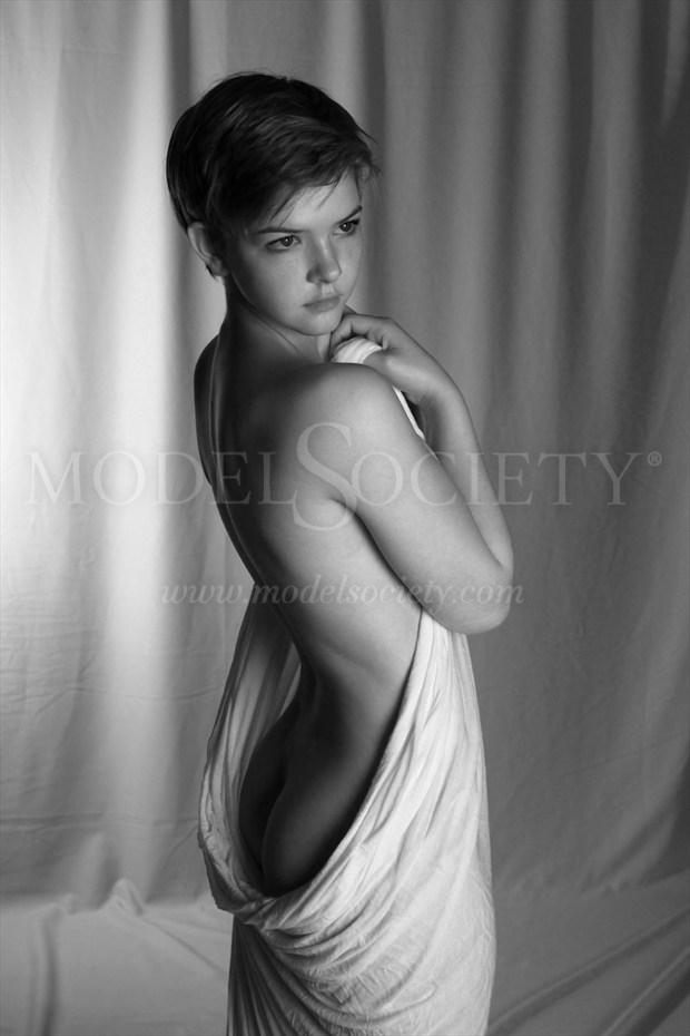 Demurely Draped Sensual Photo by Photographer R. Scott Anderson