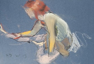 Denise in tights Painting or Drawing Artwork by Artist Ciaran Taylor