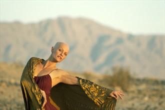 Desert Gold Nature Photo by Model Laura Dasi