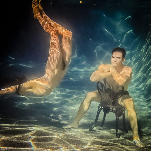 Devi and Johnny in the Pool Artistic Nude Photo by Photographer jody frost
