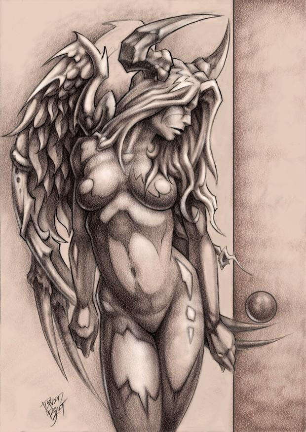 Devil Angel Fantasy Artwork by Artist David Bollt