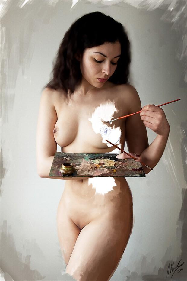 Digital Artwork by Model Mona Innominata