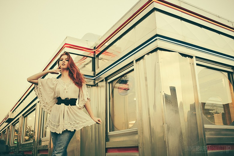 Diner Vintage Style Photo by Model Shaun Tia