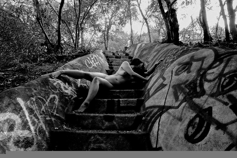 Distraught In Slumberland (Monochrome) Artistic Nude Photo by Photographer Muse Evolution Photography