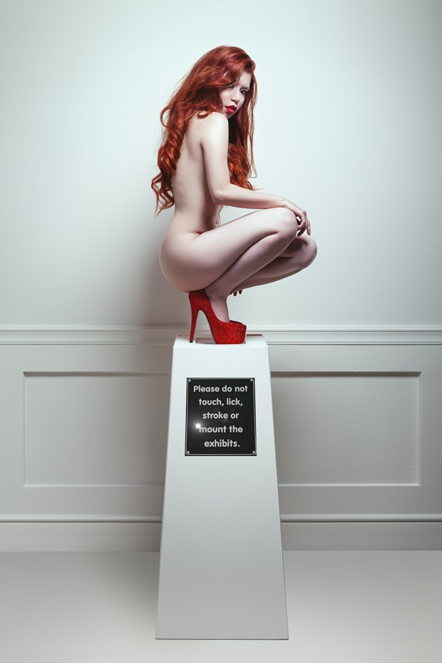Do not touch Artistic Nude Photo by Model Caroline Madison