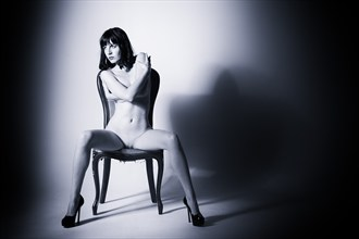 Dominating the chair Artistic Nude Photo by Model Ivy Rose Raven