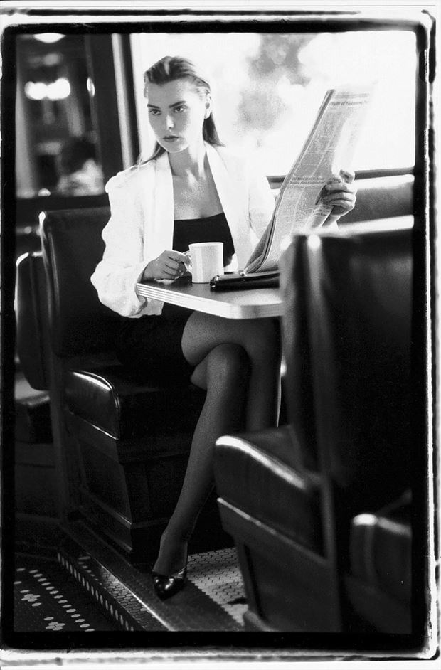Dorotka waiting for associate. Fashion Photo by Photographer erichamburg
