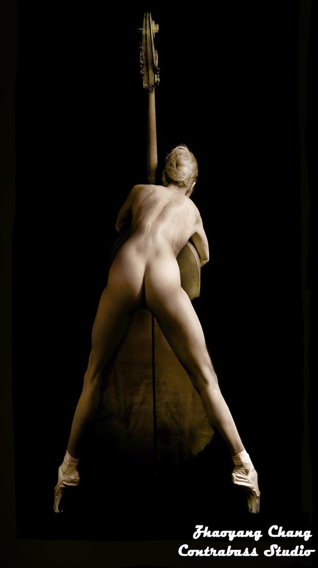 Double Bass Love: Reaching For the Deepest Notes and Tones Artistic Nude Photo by Model freespirit