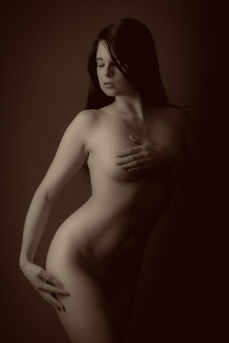 Downward Glance Artistic Nude Photo by Photographer Kev