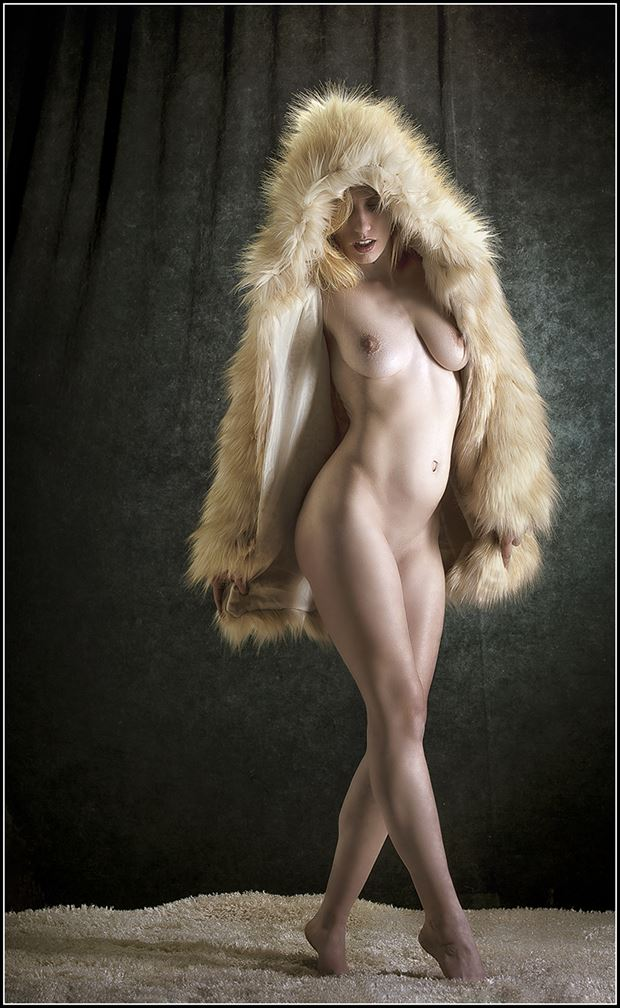 Draped in Fur Artistic Nude Photo by Photographer Magicc Imagery