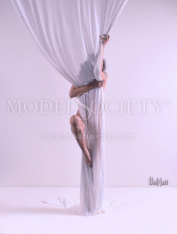 Drapery experience Artistic Nude Photo by Model Ilse Peters