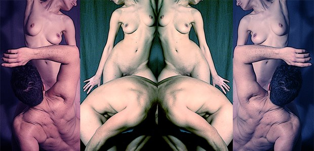 Du Louvre Artistic Nude Artwork by Model Diana Revo