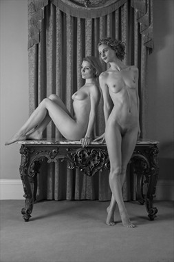 Duo in Mono Tones Artistic Nude Photo by Photographer MaxOperandi