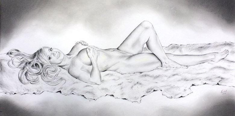 Edith Sensual Artwork by Artist Vincent_Wolff_Art