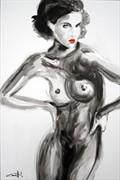 Elisabeth Artistic Nude Artwork by Artist Michel Canetti
