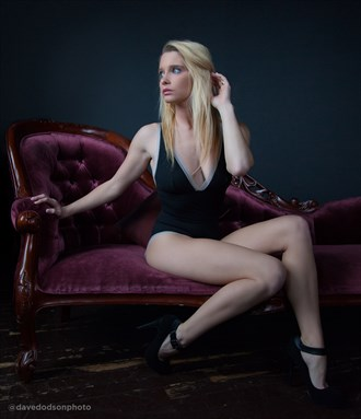Elizabeth on the sofa Lingerie Photo by Photographer dpdodson