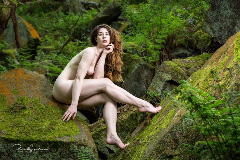 Elle Beth woodland and rocks Artistic Nude Photo by Photographer Richard Spurdens