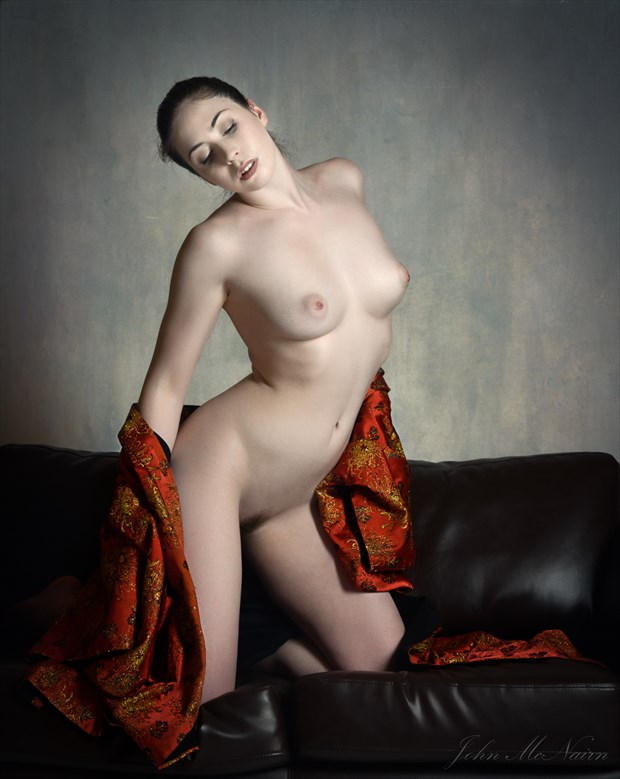 Elle in Red Artistic Nude Photo by Photographer Rascallyfox