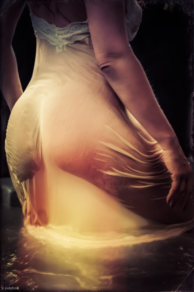 Emanuela in a Wet Slip Lingerie Photo by Photographer jody frost