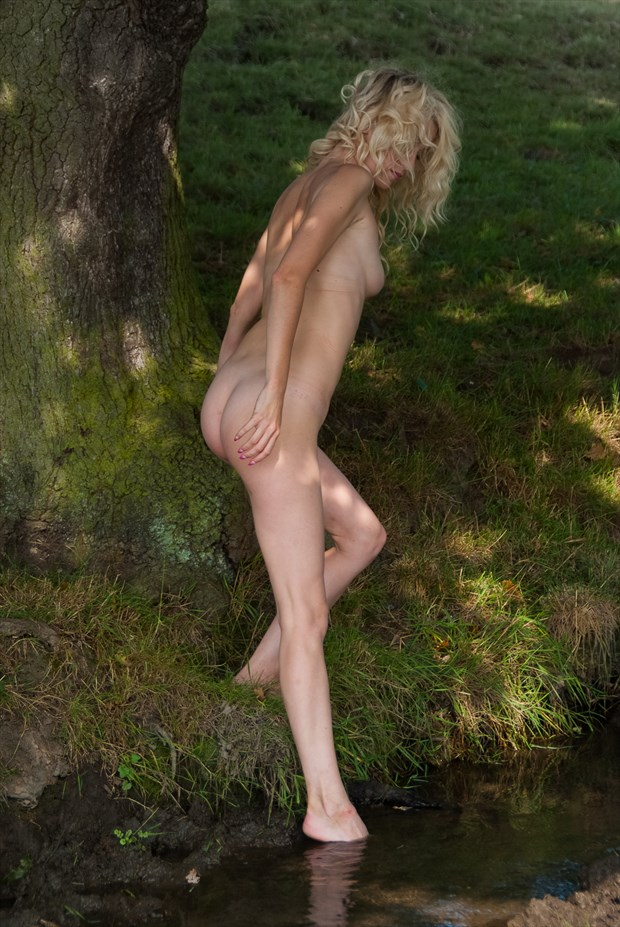 Emma dipping a toe into the stream Artistic Nude Photo by Photographer BarleyFields