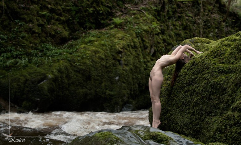 Epic Back Bending Artistic Nude Photo by Model Cassie Jade