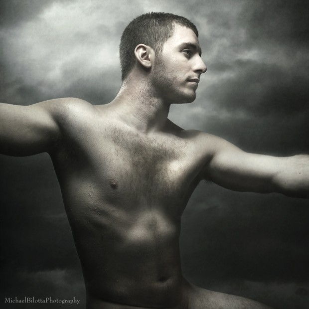 Epic Painterly Male Nude 1 Artistic Nude Photo by Photographer Michael Bilotta