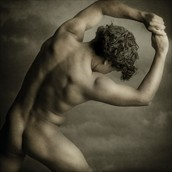 Epic Sepia Male Nude 1 Artistic Nude Photo by Photographer Michael Bilotta