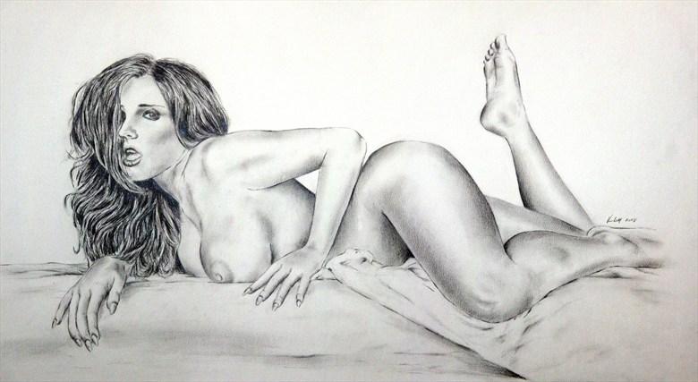 Erica Campbell Artistic Nude Artwork by Artist Vincent_Wolff_Art