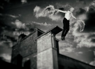 Escaping The Black Tuesday Photo Manipulation Artwork by Model Horace Silver