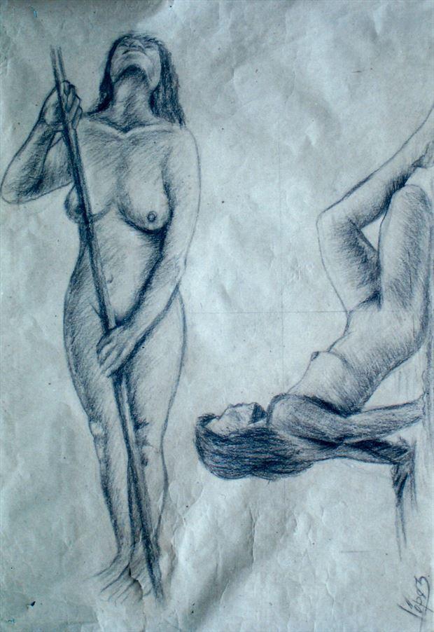 Estudio de figuras Artistic Nude Artwork by Artist Luis Carlos