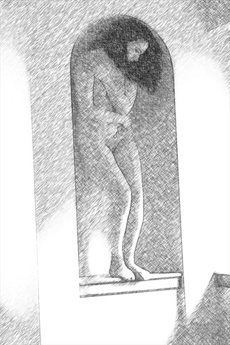 Etching of Gen Artistic Nude Artwork by Photographer Jackkeg