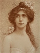 Evelyn Nesbit %231048 Vintage Style Artwork by Artist Matthew Joseph Peak