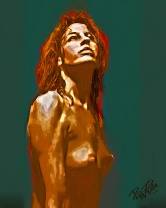 Evening Light Sensual Artwork by Artist BWRgrafix