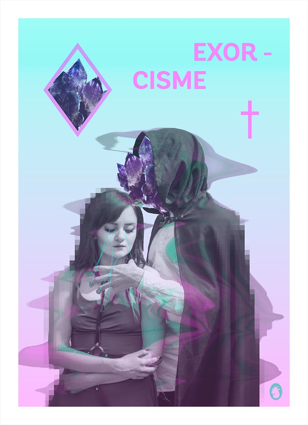 Exorcisme Surreal Artwork by Photographer Mlle Ch%C3%A8vre
