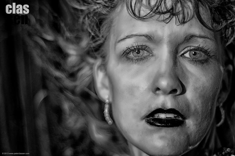 Expressive Portrait Artwork by Model Ali Hanney
