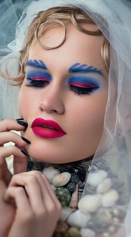 Expressive Portrait Artwork by Model Amy Coco