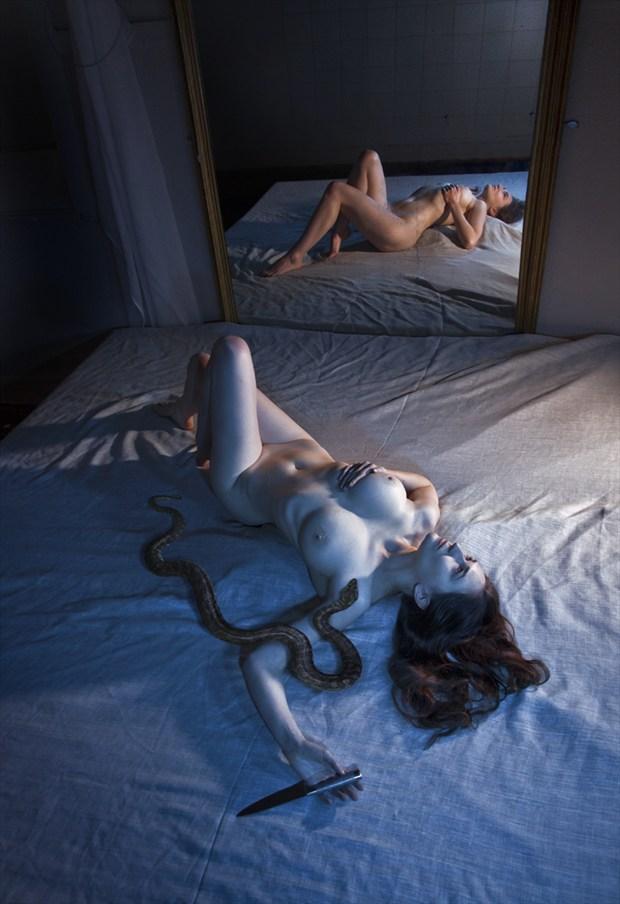 Faith on a Knife Edge Artistic Nude Photo by Photographer Douglas Ross