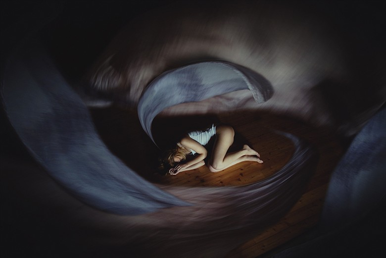Fall asleep Surreal Artwork by Photographer Alessio Albi
