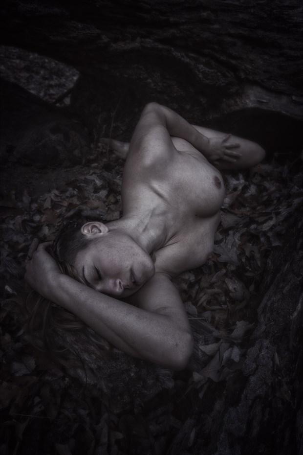 Fallen Angel Artistic Nude Photo by Model Reece de la Tierra