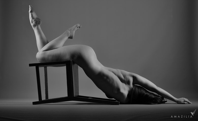 Fallen Chair Artistic Nude Photo by Photographer Amazilia Photography