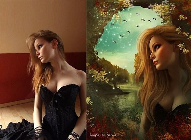 Fallen beauty Fantasy Artwork by Artist 3ddream