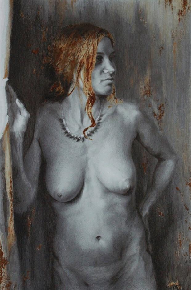 Falling Leaves Artistic Nude Artwork by Artist JFisher86
