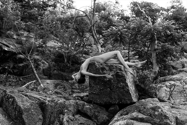 Falling down the rock Artistic Nude Photo by Photographer Jyves