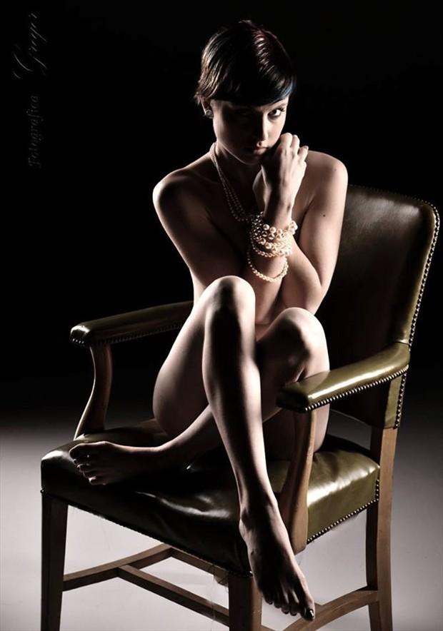 Fashion Bondage Artistic Nude Artwork by Model Monica Elizabeth