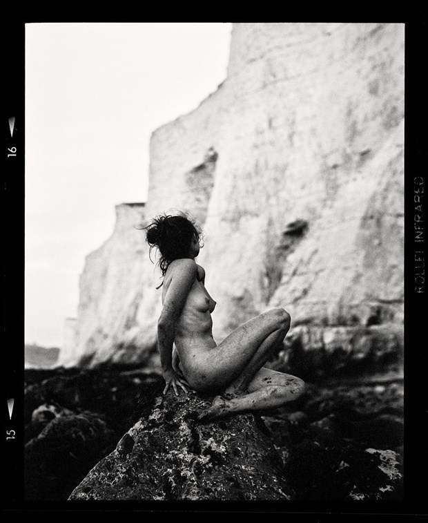 Fawnya at the White Cliffs 1 Artistic Nude Photo by Photographer RayRapkerg