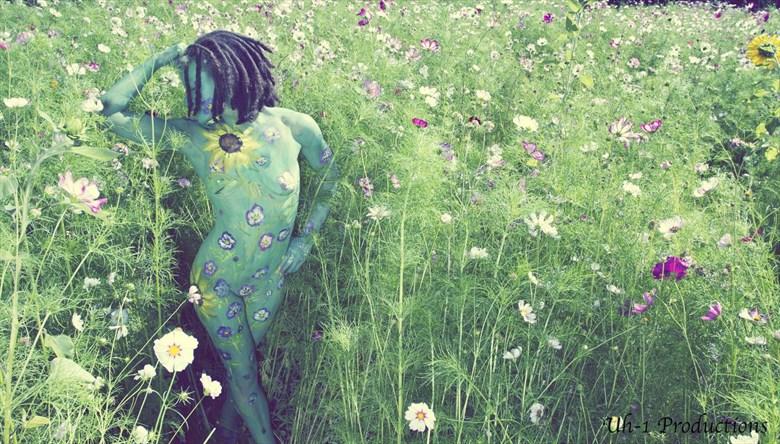Field Dance Artistic Nude Artwork by Model Syren Lestat
